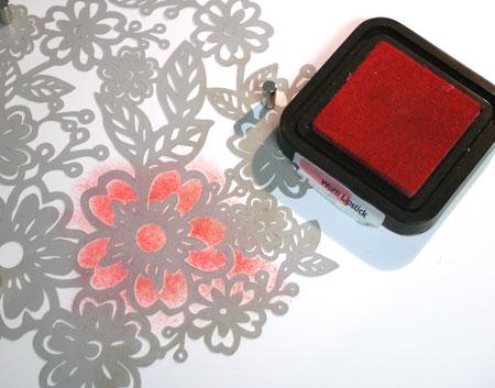 Inking-mask-flower-image