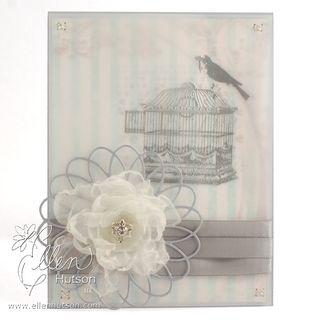 Organza Flower Card