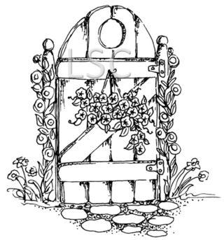 Petunias on the gate