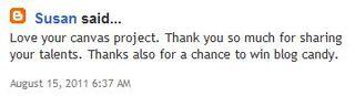 Eva Dobilas Blog Candy Winner Comment