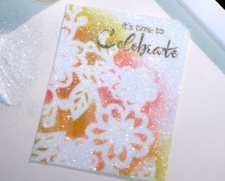 Glitter-application-masked-