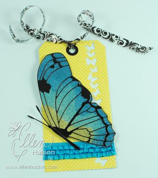 Burnished Velvet Butterfly Tag
