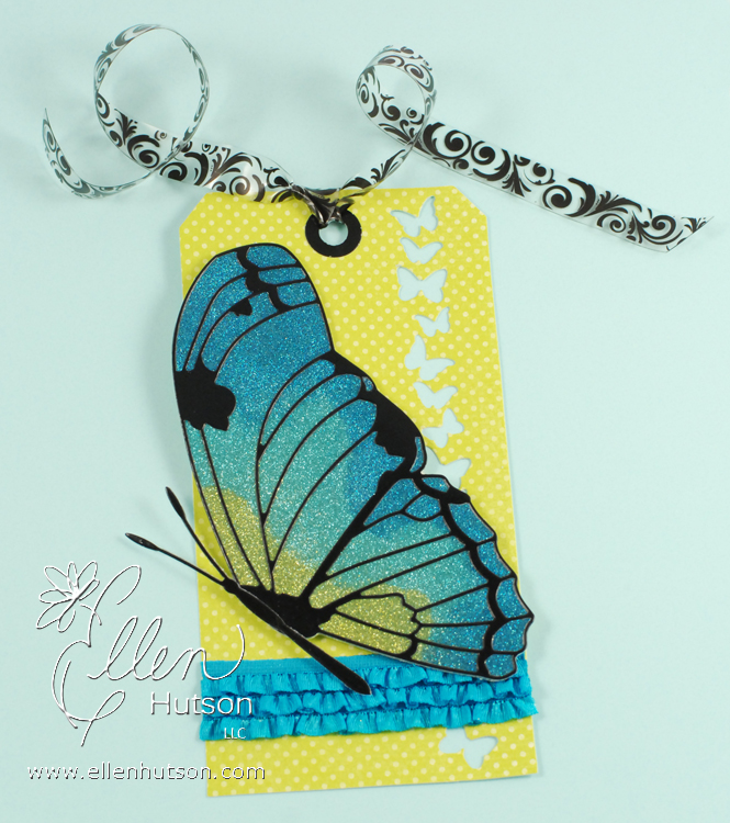 Burnished Velvet Butterfly Tag