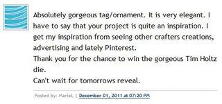 Day 1 Winner Comment