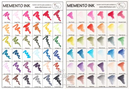 Memento Ink Charts