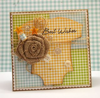 Gingham-baby-card-design