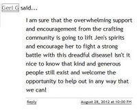 Jens Sunshine Winner Comment