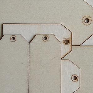 Wood shipping tags