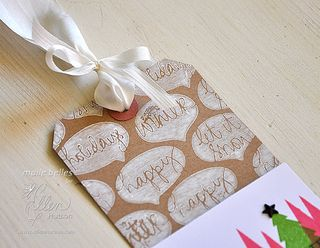 Warm Wishes Tag (Detail 2)
