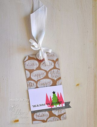 Warm Wishes Tag