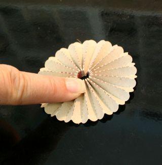 Fabric-tape-rosette-formed