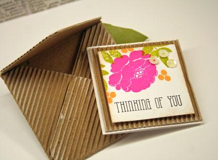Envelope-and-mini-card