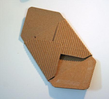 Corrugated-envelope-folding