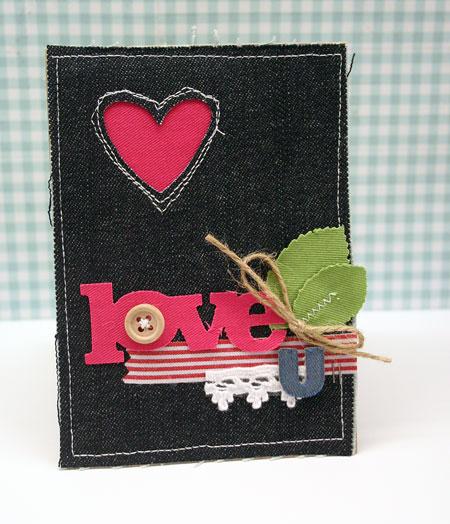 Love-u-fabric-card