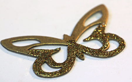 Glitter-dipped-butterfly