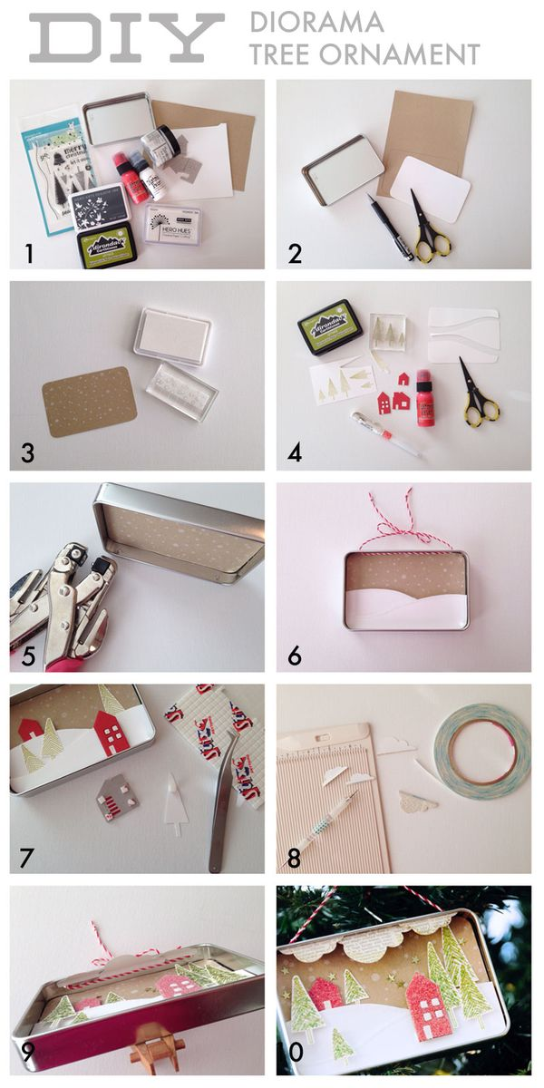 Make Your Own Diorama: In Touch: DIY Diorama Holiday Ornament