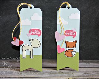 Valentine Bookmarks by Heather Campbell for Ellen Hutson LLC