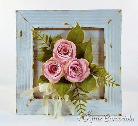 KC MFT Rolled Rose Vintage Frame center