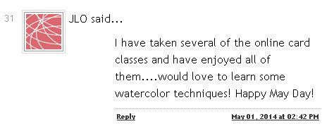 Watercolor Winner Comment