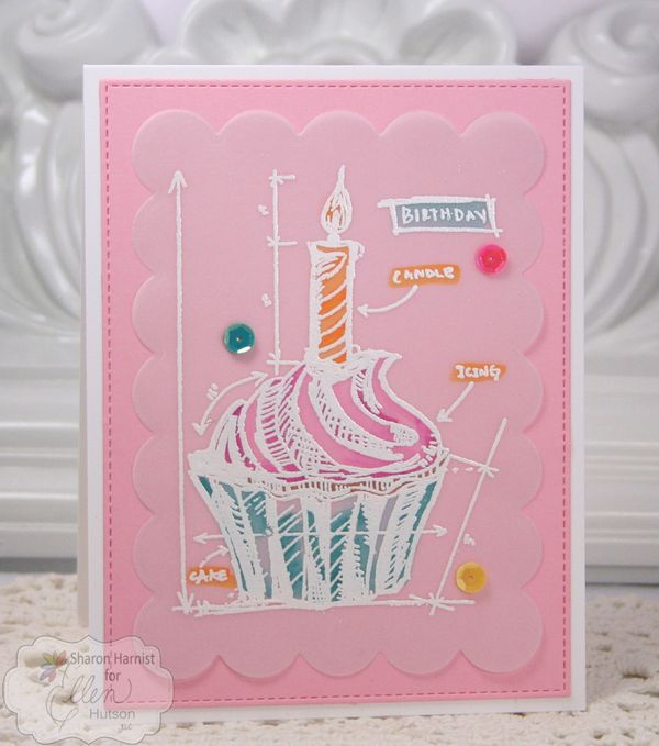 Vellum birthday cupcake by sharon harnist the classroom malvernweather Image collections