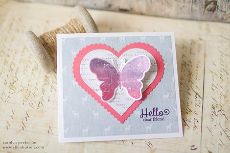 Hello dear friend card for ellen hutson by carolyn peeler