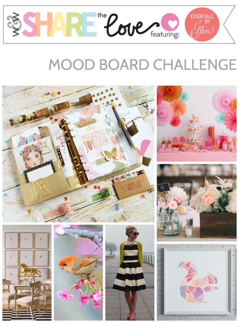 Share the love Essentials by Ellen mood board challenge