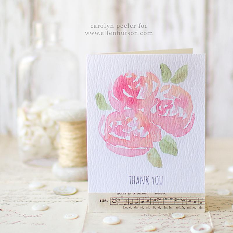 Watercolor flowers insta image