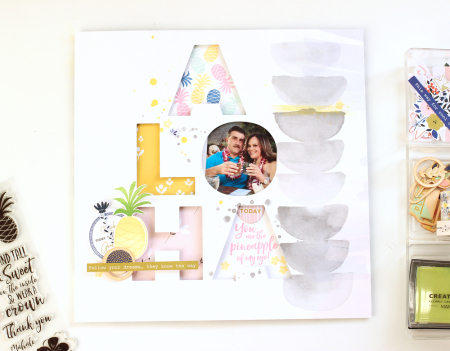To Create The Shadow Box Begin By Cutting Out A Large Title With An Electronic Die Machine You Could Also Draw Letters Hand And Cut