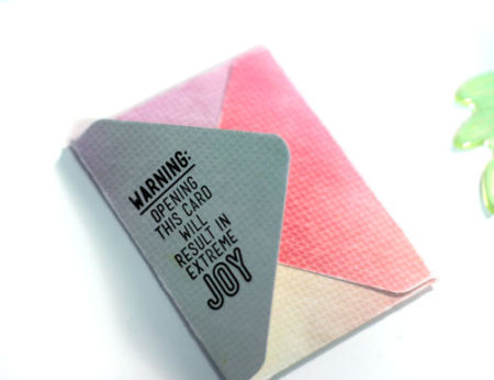 Stamp-on-mini-envelope