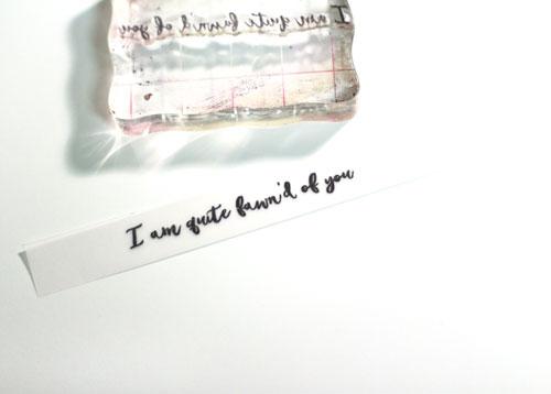 Stamp-on-vellum