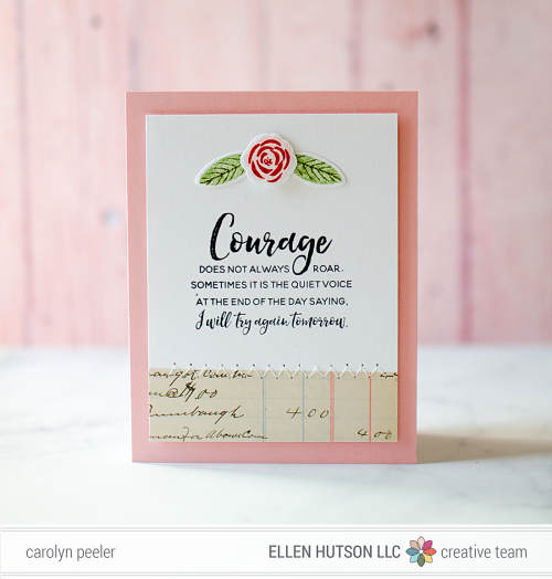BCRF week Courage card by Carolyn Peeler