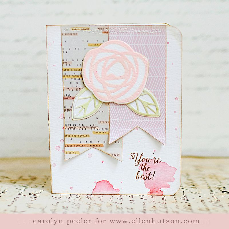 You're the best watercolor card by Carolyn Peeler