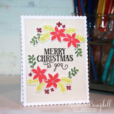 Heather Campbell for Ellen Hutson Avery Elle Christmas Florals