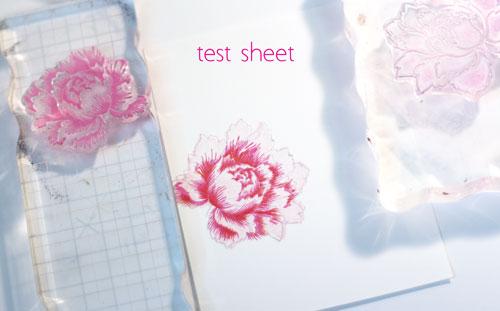 Test-sheet