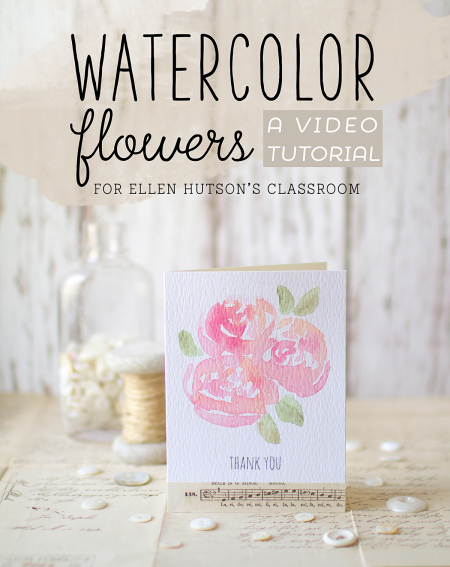 Watercolor flowers video tutorial