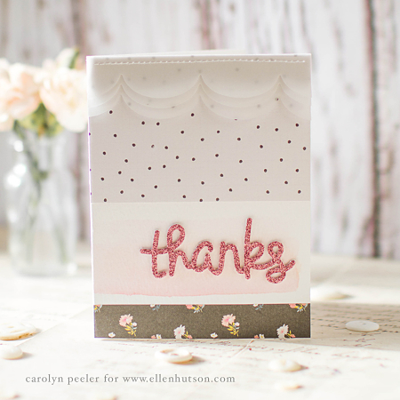 Thanks sparkle card by carolyn peeler