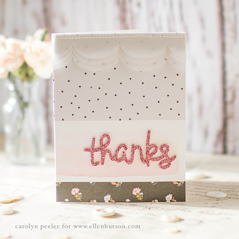 Thanks sparkle card by carolyn peeler