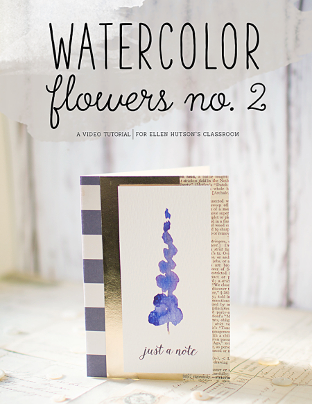 Watercolor flowers  no 2 video tutorial