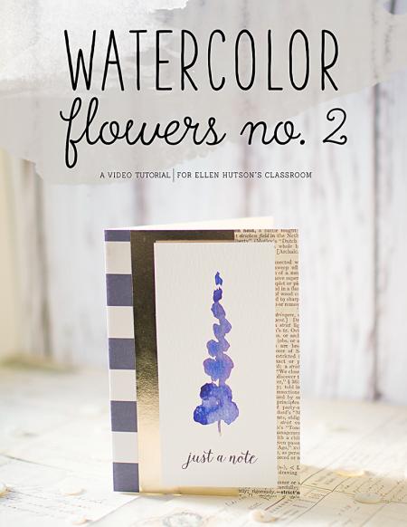 Watercolor flowers  no 2 video tutorial