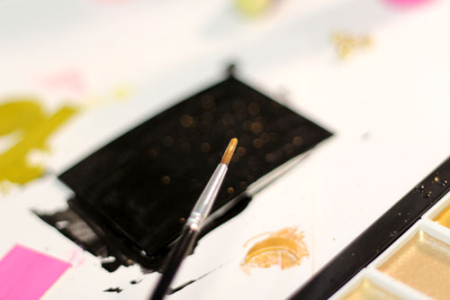 Gold-paint-splatter