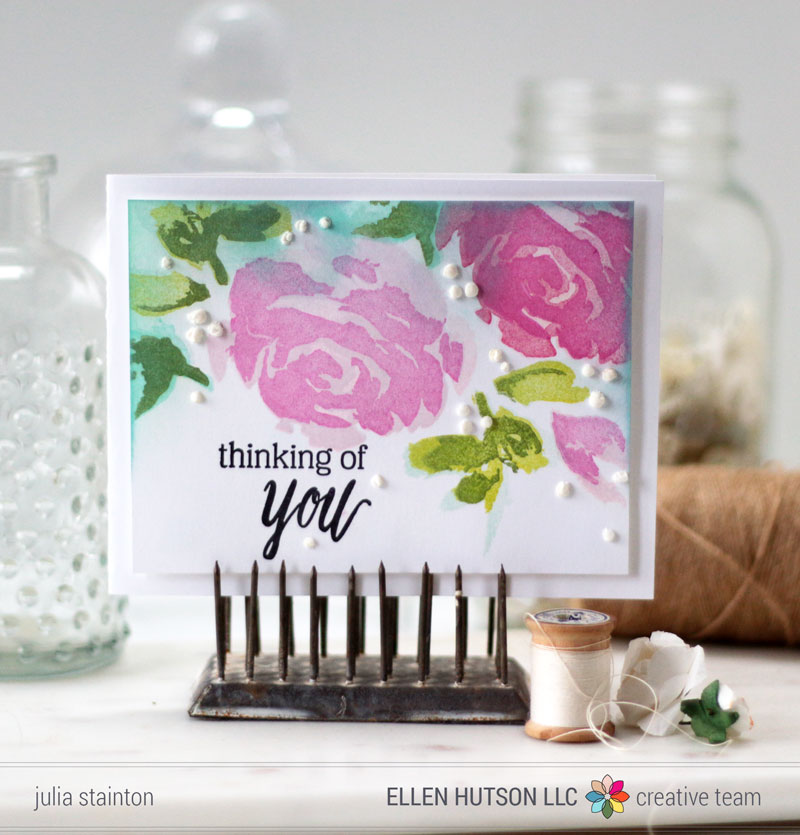 Painted-rose-card
