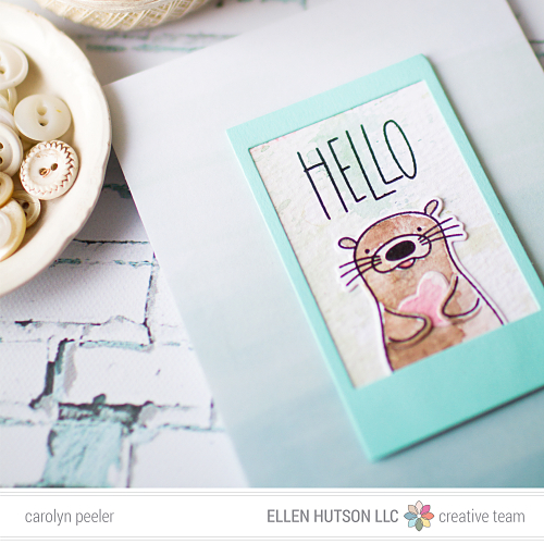 Hello Otter by carolyn peeler insta image