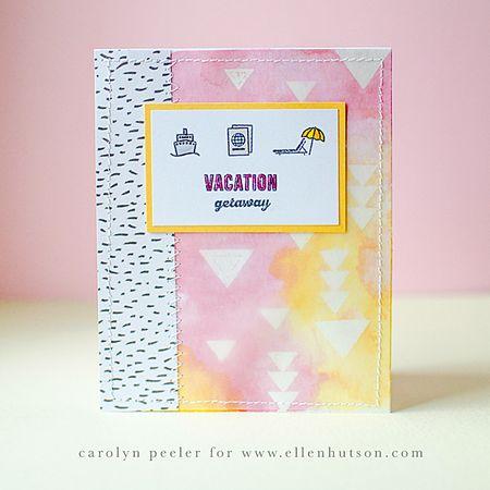 Vacation getaway card by carolyn peeler