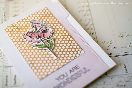 You are wonderful card detail by carolyn peeler