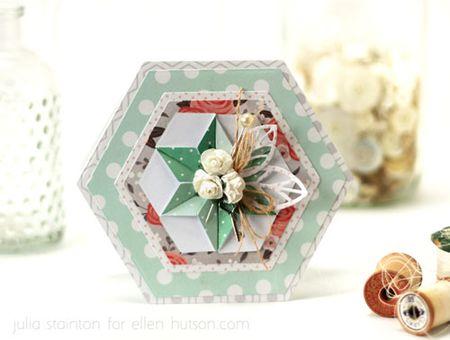 Folded-hexagon-card