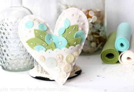 Felt-heart-embroidery