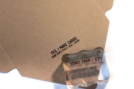 Stamp-on-envelope