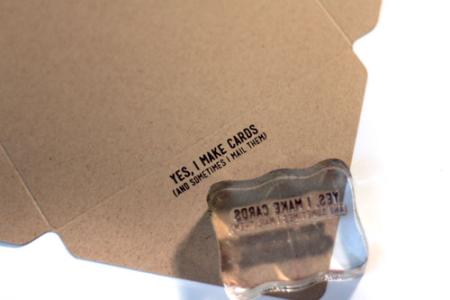 Stamp-on-envelope