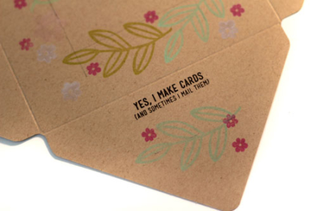 Stamped-envelope-flap