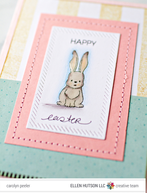 Easter card close up